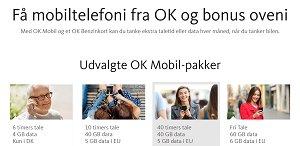 OK mobil pakker